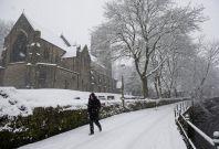 UK snow in the Midlands