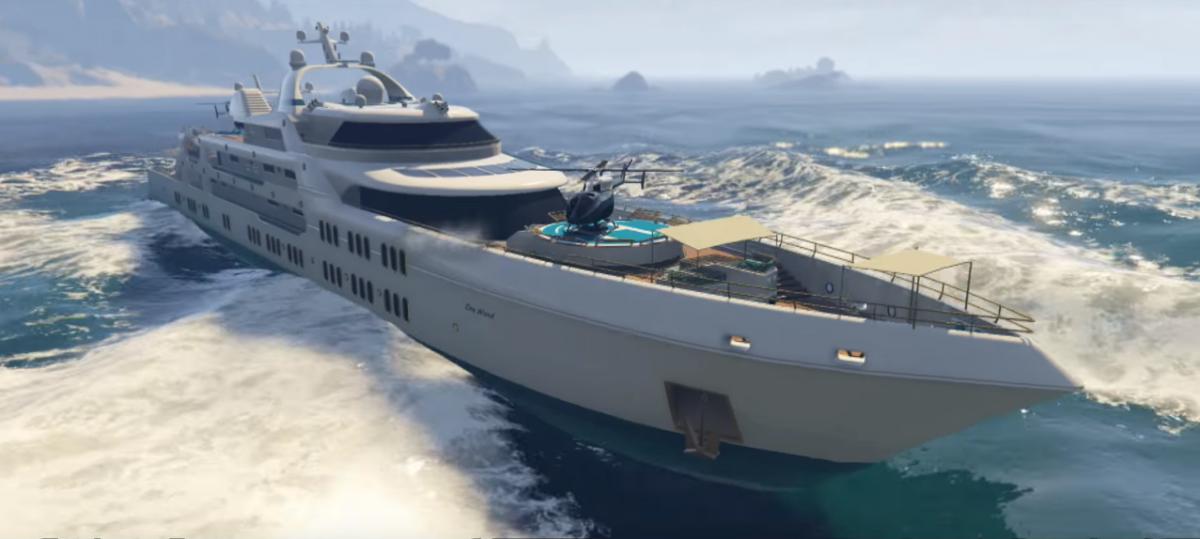 GTA Online Super Yacht