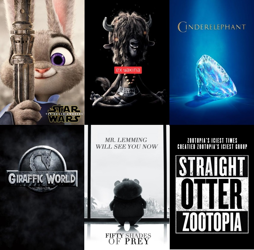 Zootropolis posters