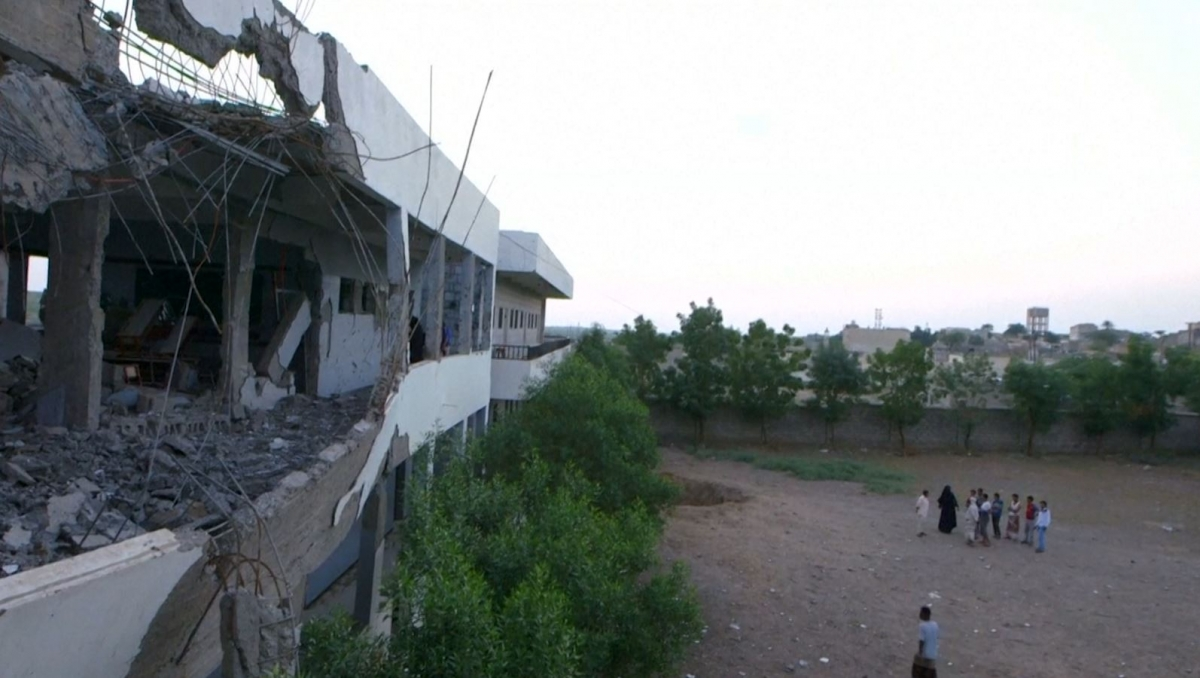 Yemen school bombed