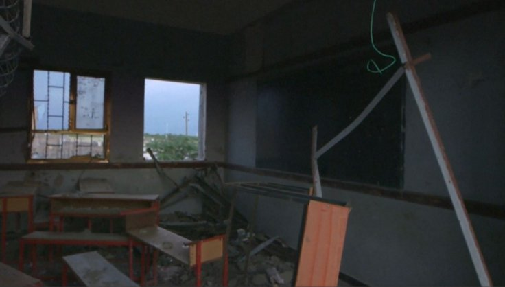Bombed school in Yemen