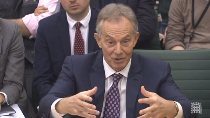 Former PM Tony Blair