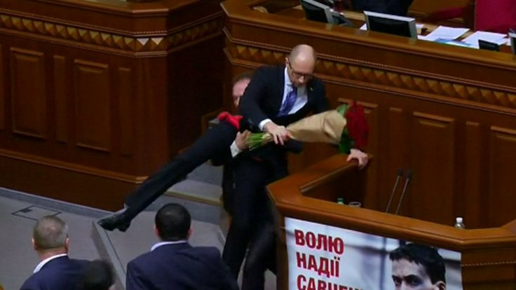 Ukrainian Prime Minister picked up in parliament
