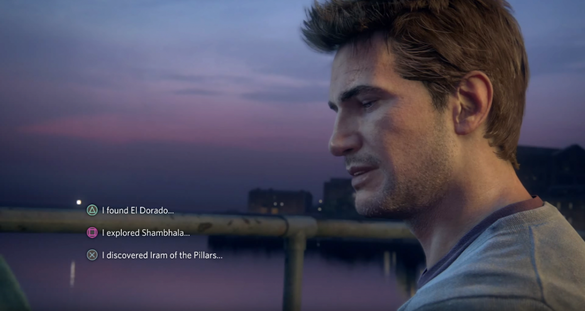 Uncharted 4 Dialogue Tree