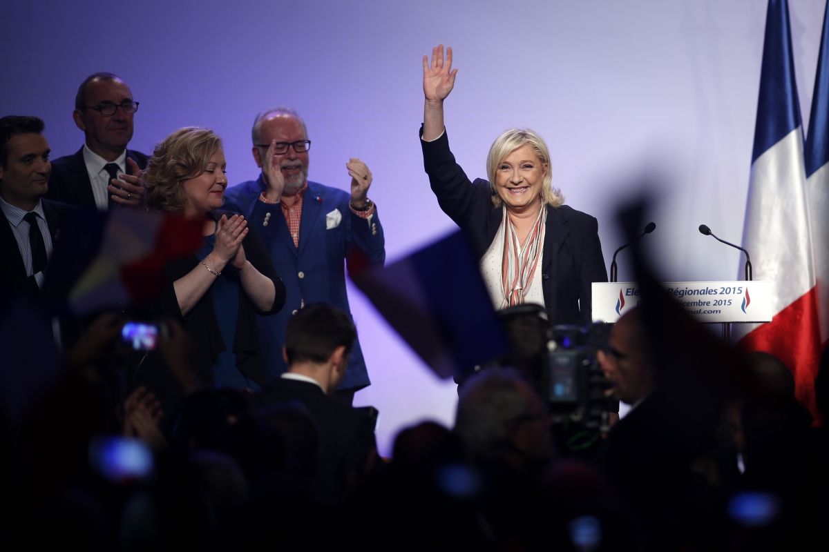 Marine Le Pen FN elections
