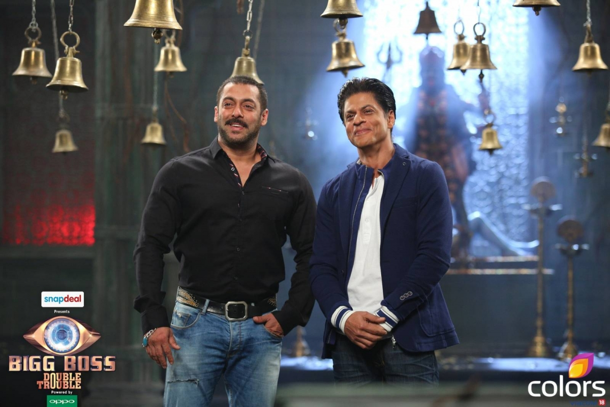 Bigg Boss 9 with Salman Khan and Shah Rukh Khan