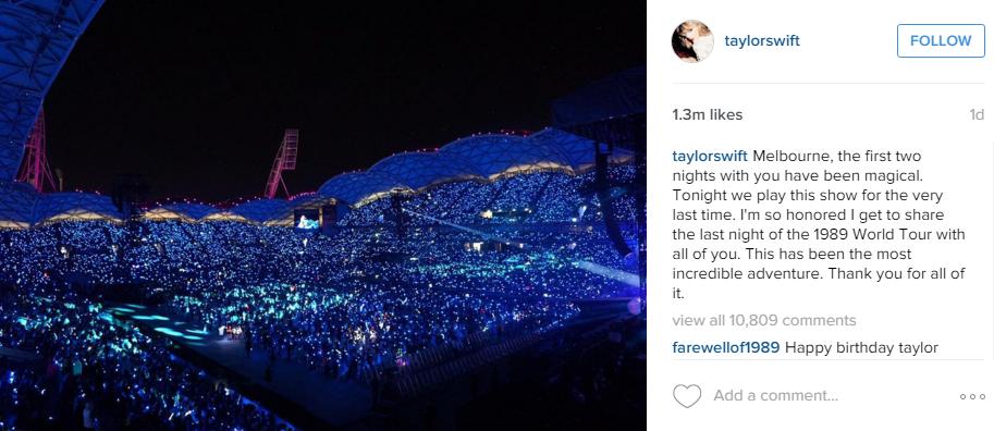 Taylor Swift tour Melbourne