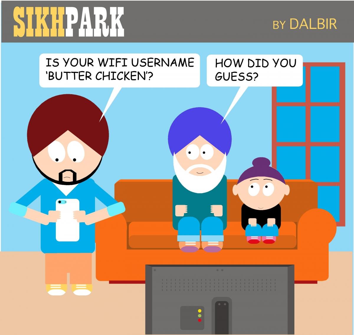 Sikh Park comic