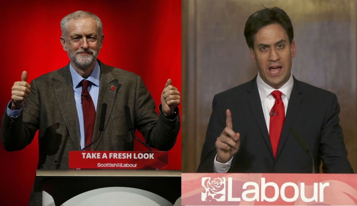 Jeremy Corbyn and Ed Miliband