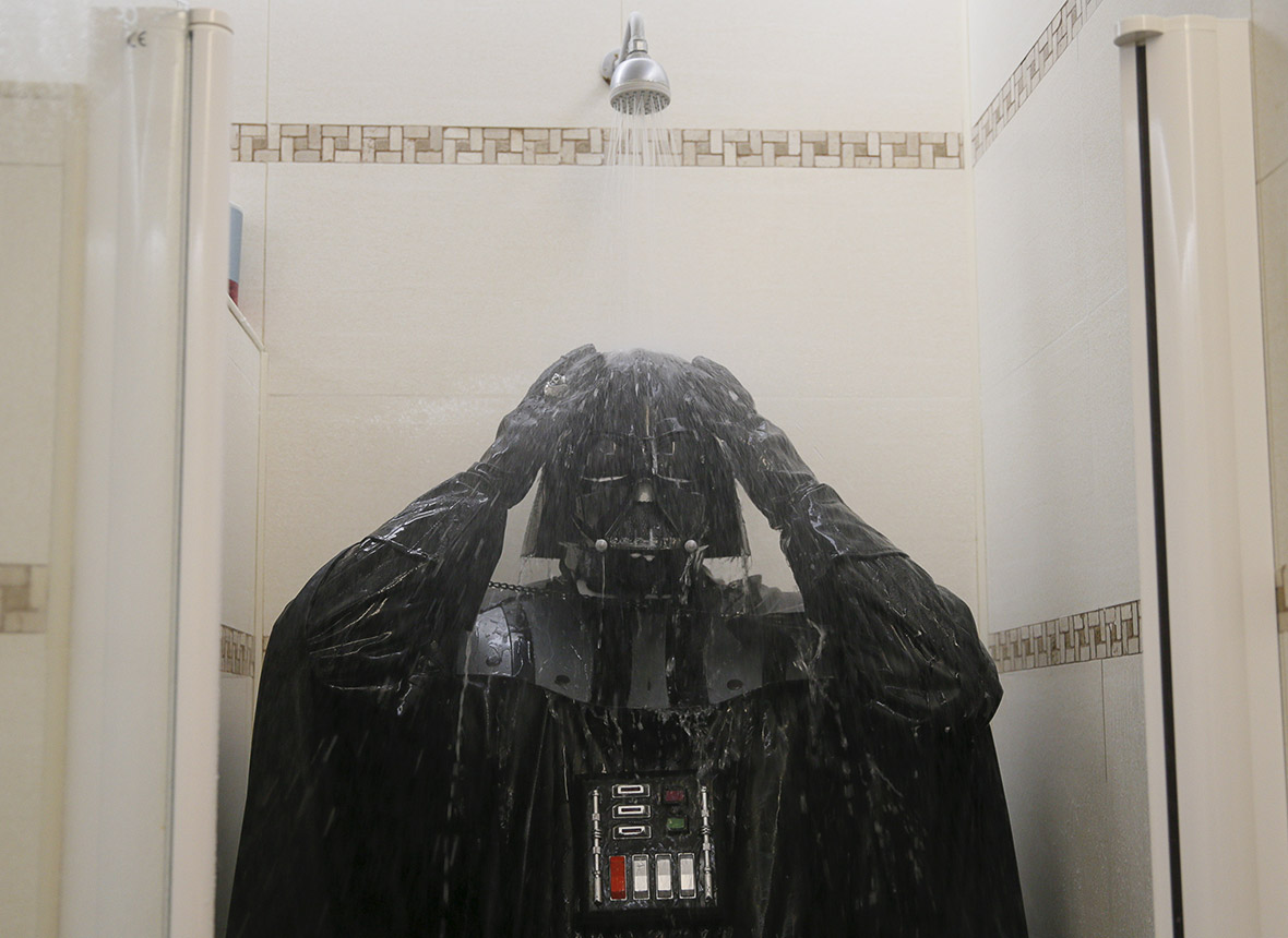 Darth Vader The Force Awakens Showers Shaves And Does