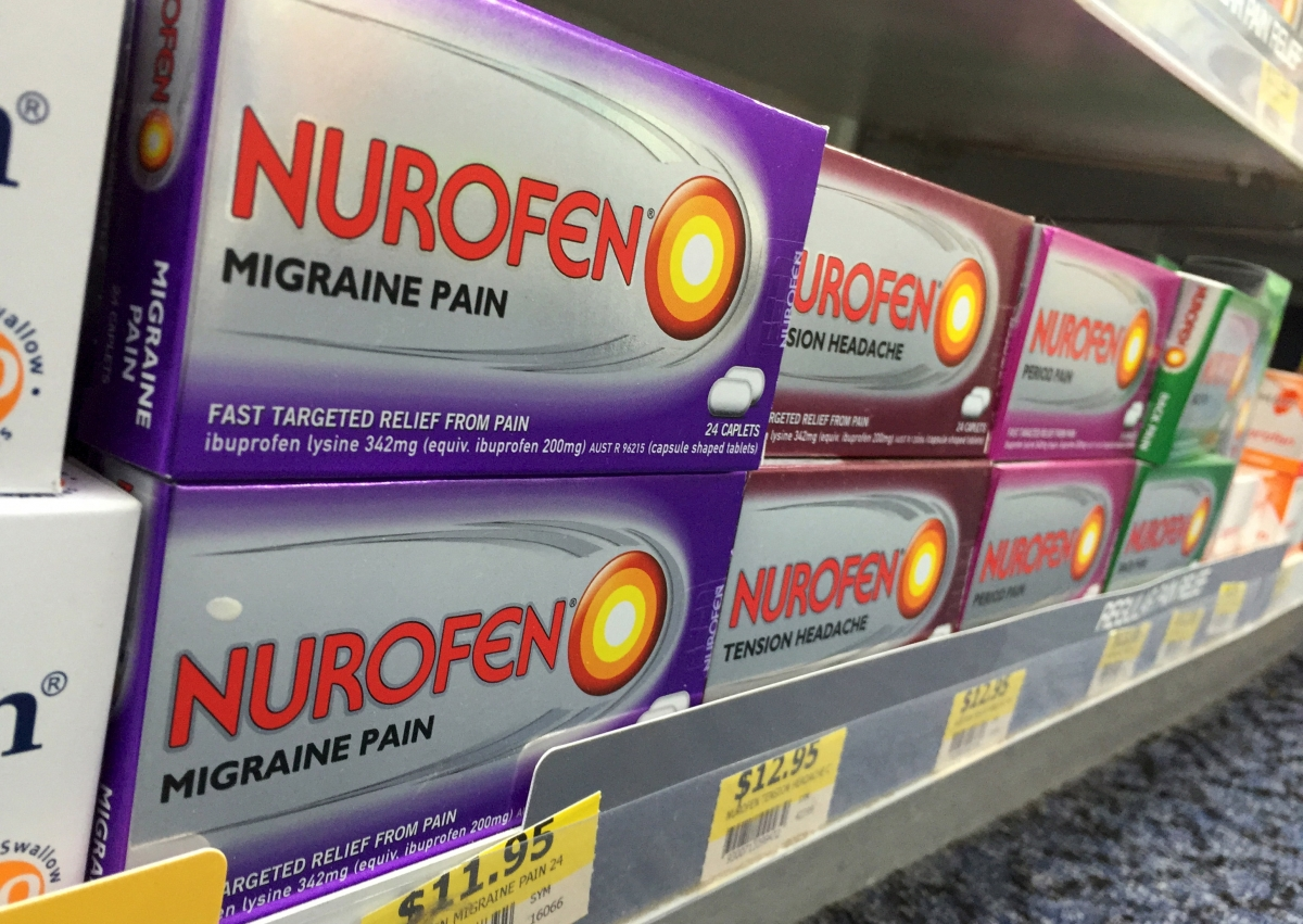Nurofen on shelves
