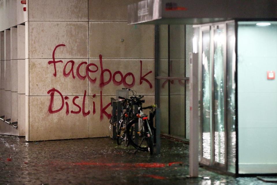 Facebook Germany vandalised