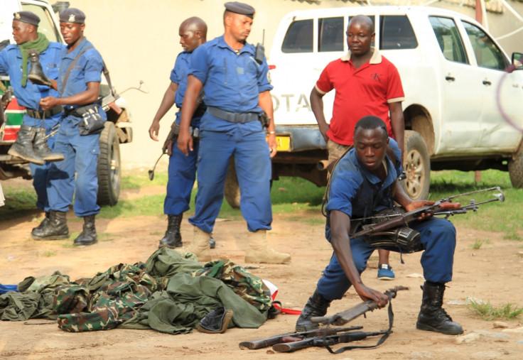 Burundi policemen