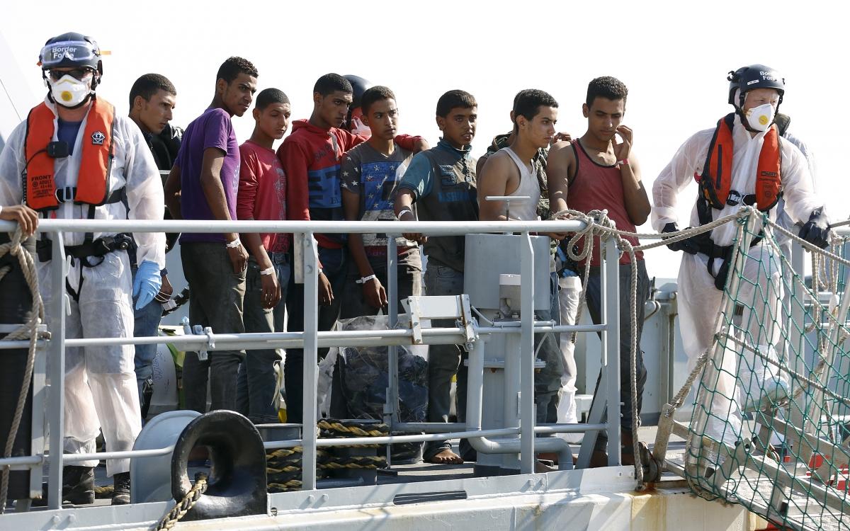 Pozzallo migrants