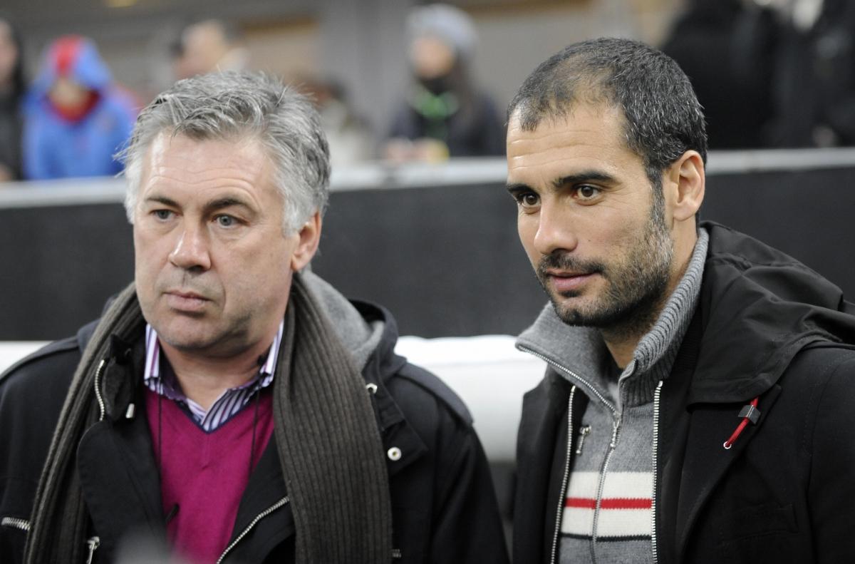 Carlo Ancelotti and Pep Guardiola