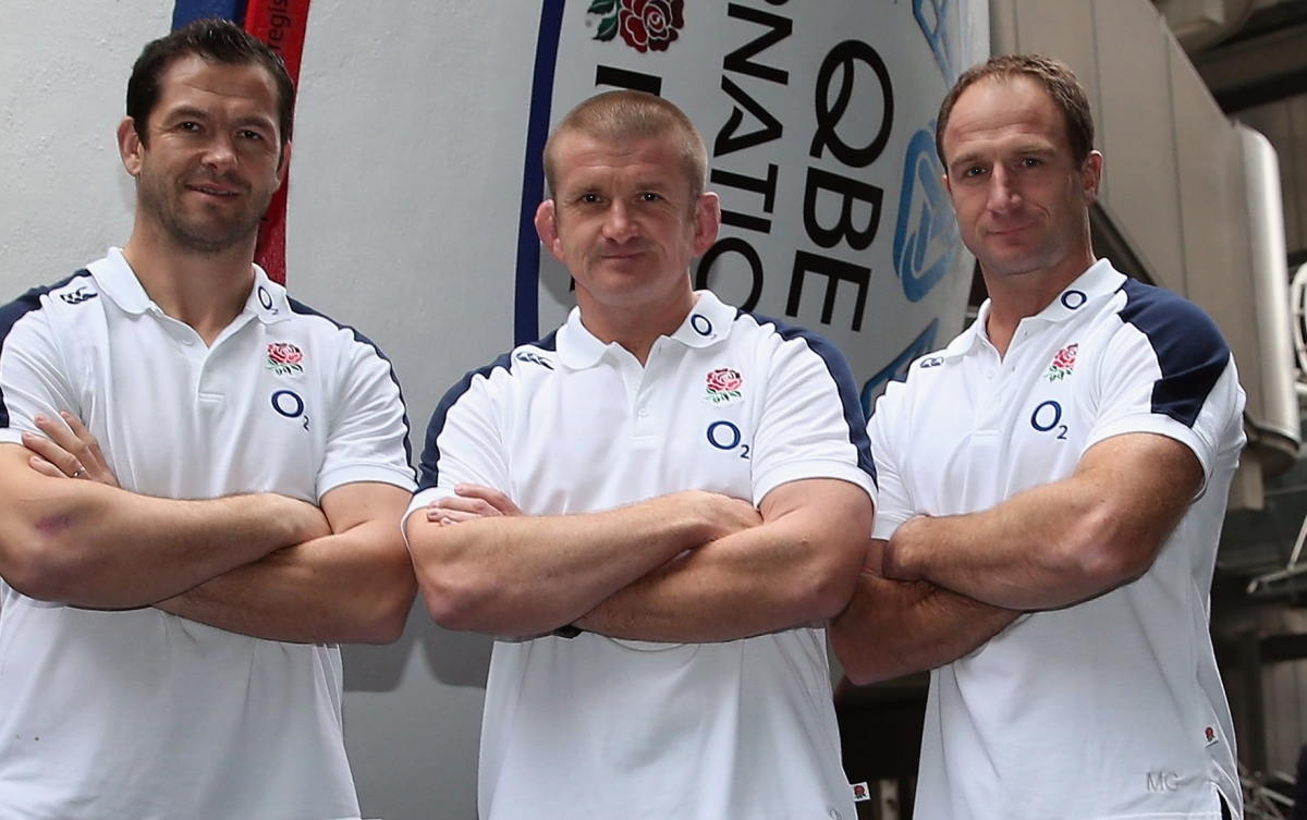 Andy Farrell, Graham Rowntree and Mike Catt