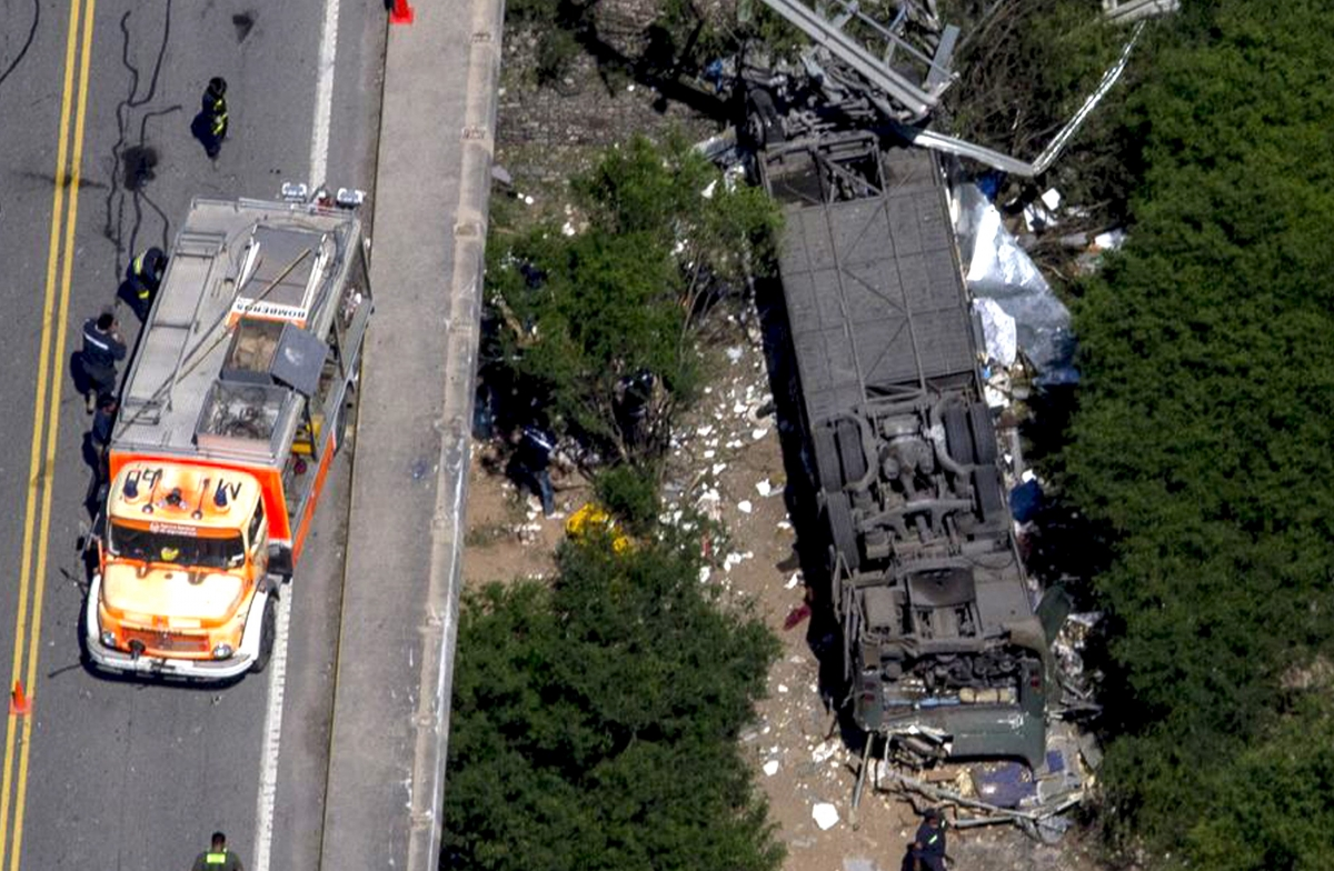 Argentina bus crash police killed