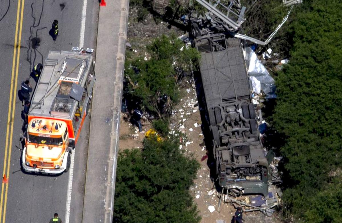 Argentina bus crash police killed