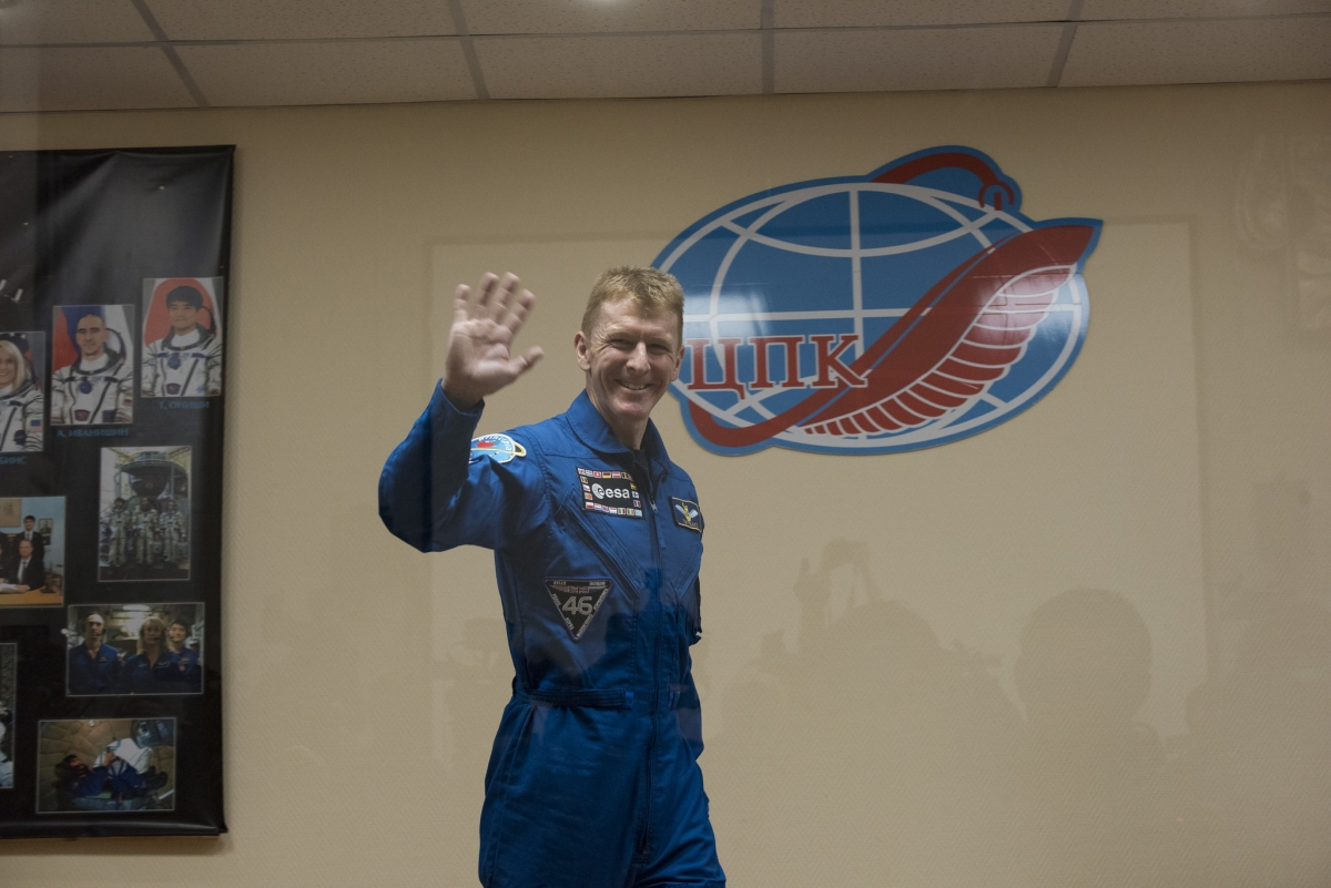Tim Peake says goodbye