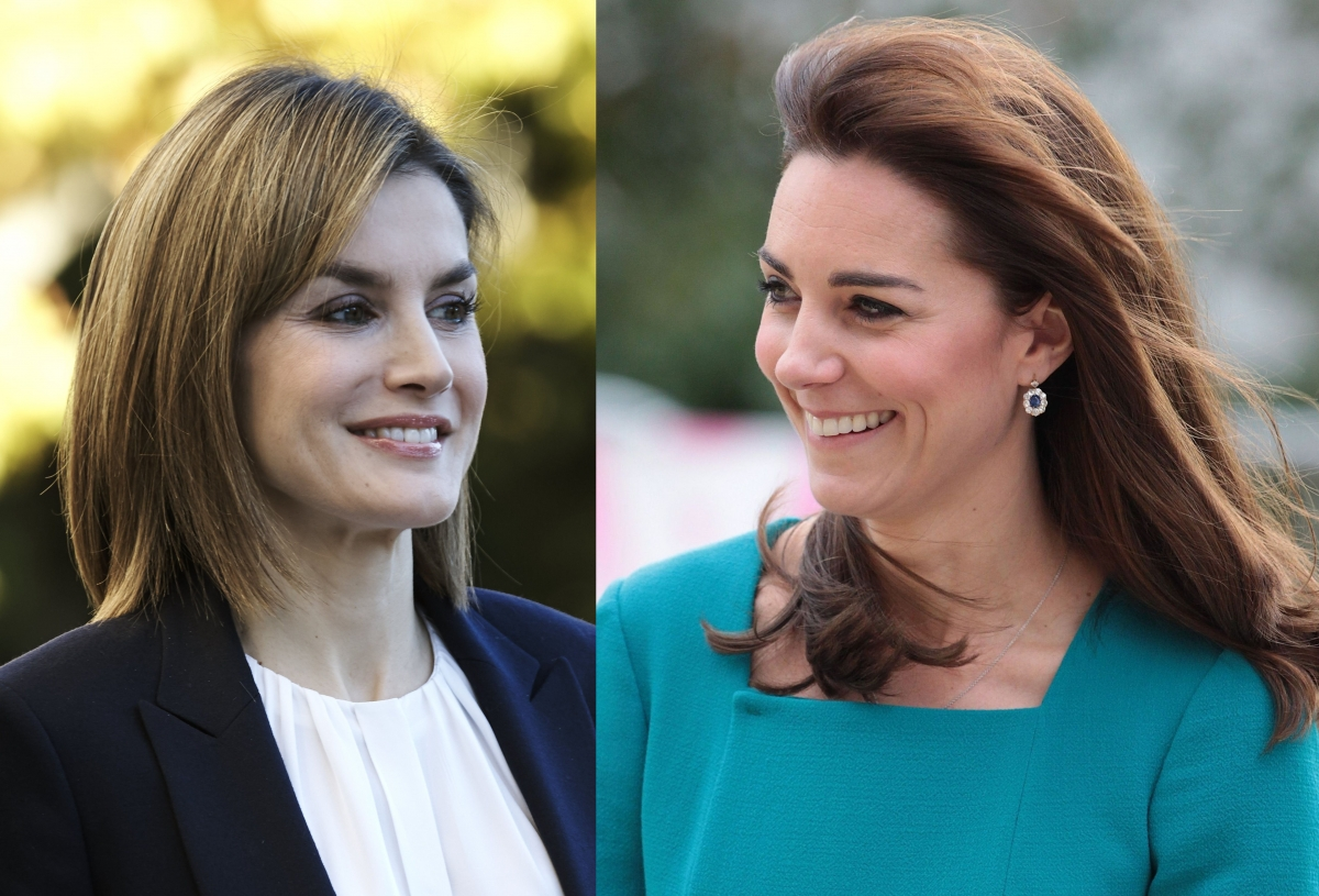 Queen Letizia and Kate Middleton