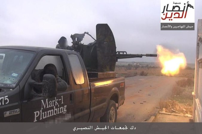 Syria pick-up truck