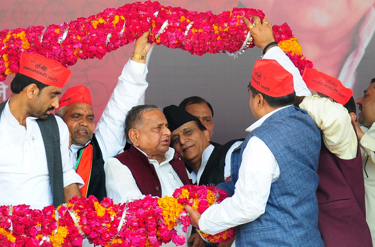 Azam Khan and Mulayam Singh Yadav