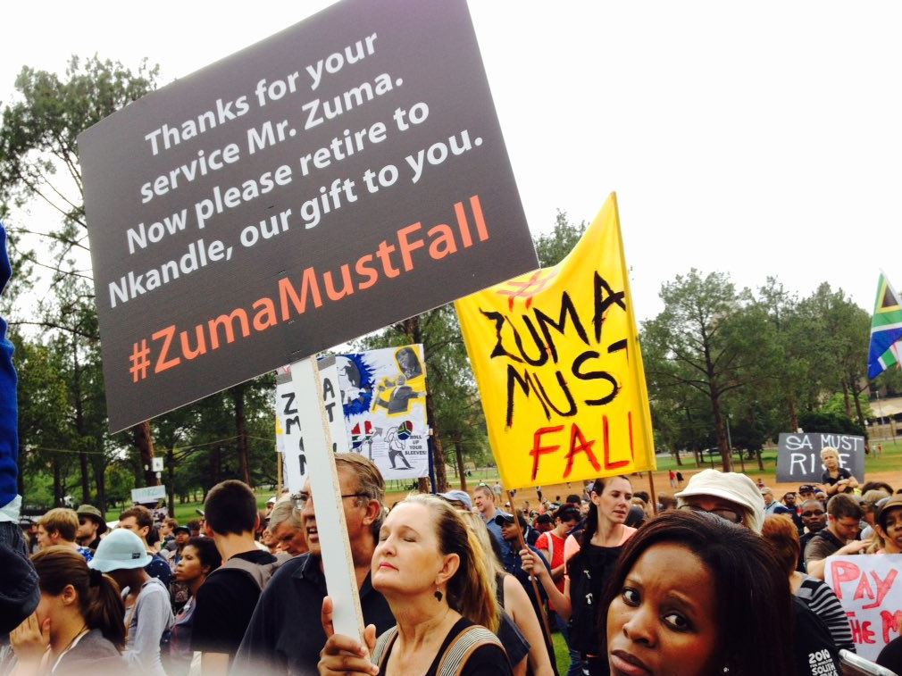Zuma Must Fall protest