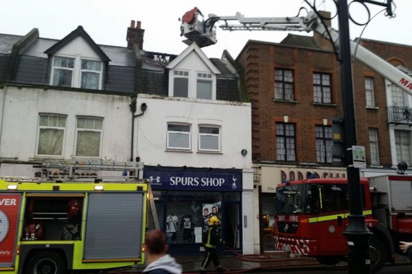 Tottenham shop fire