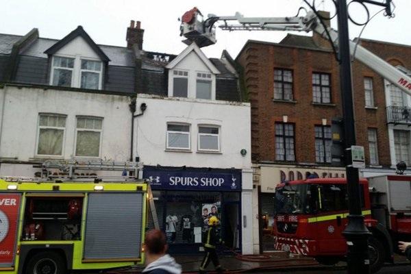 Tottenham shop fire