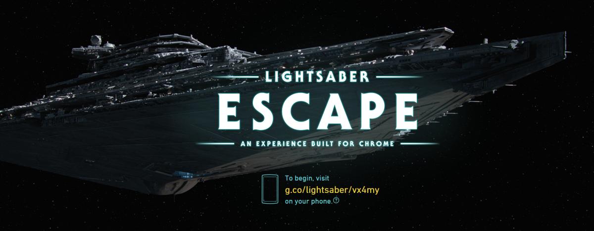 Google's Star Wars Lightsaber Escape