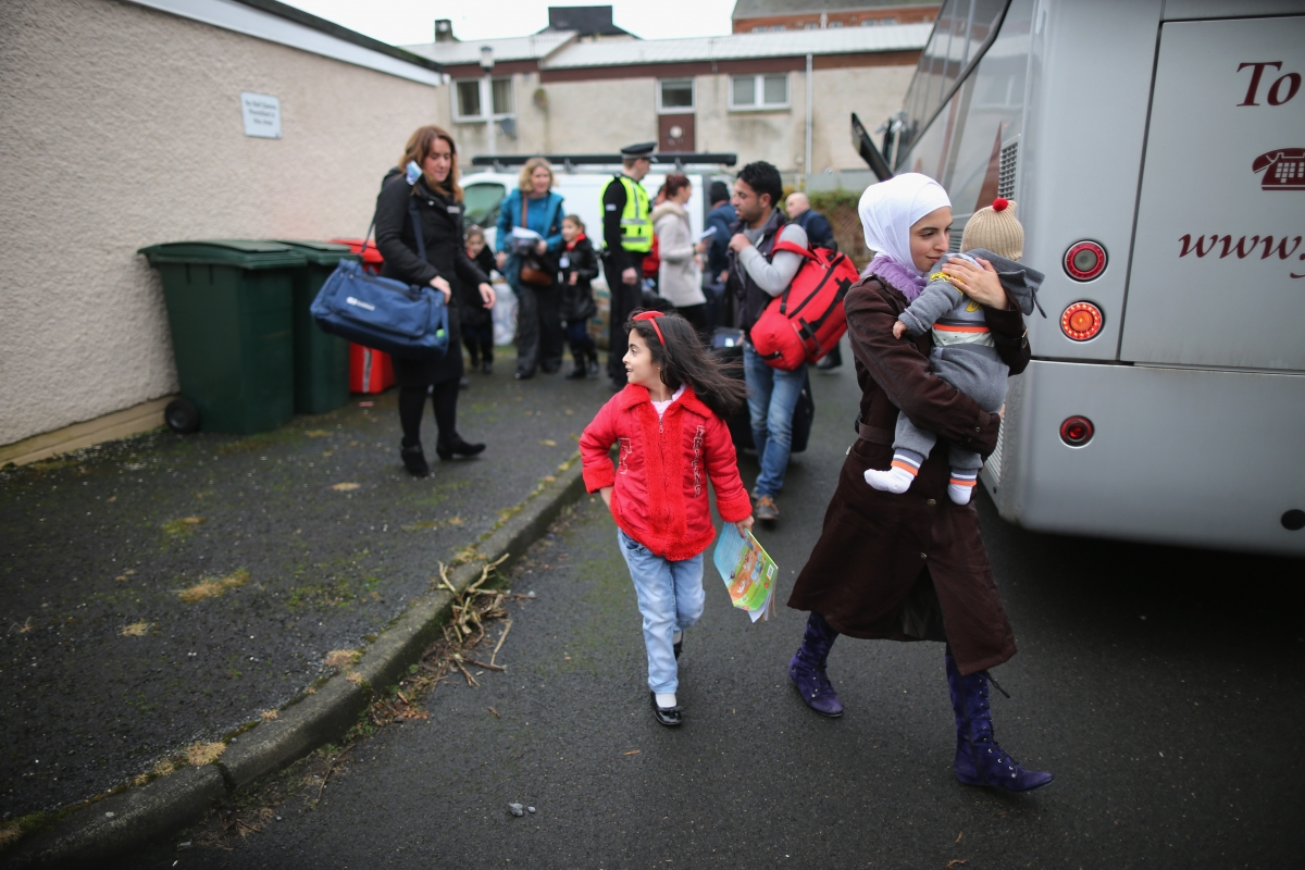 Syrian Refugees arrive in Bute