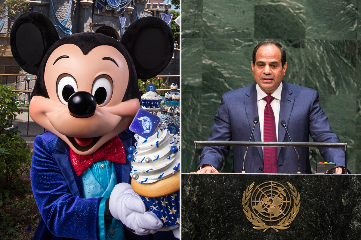 Abdel el-Sisi Mickey Mouse Ears