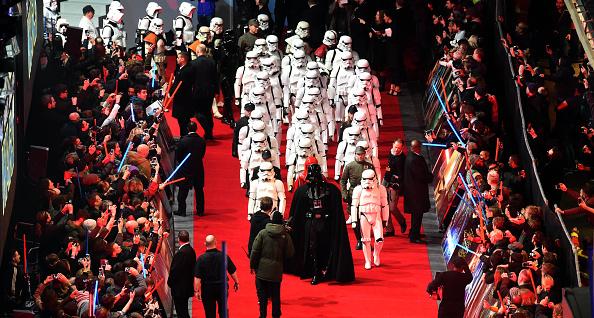 star wars london premiere  stormtroopers lead film u0026 39 s