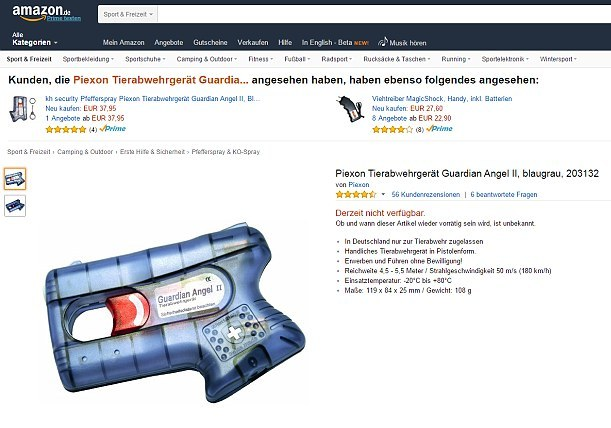 Amazon.co.uk pepper spray gun
