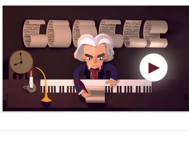 Google Doodle Beethoven