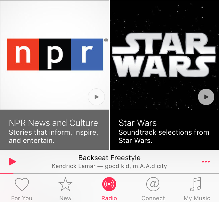 Star Wars radio station