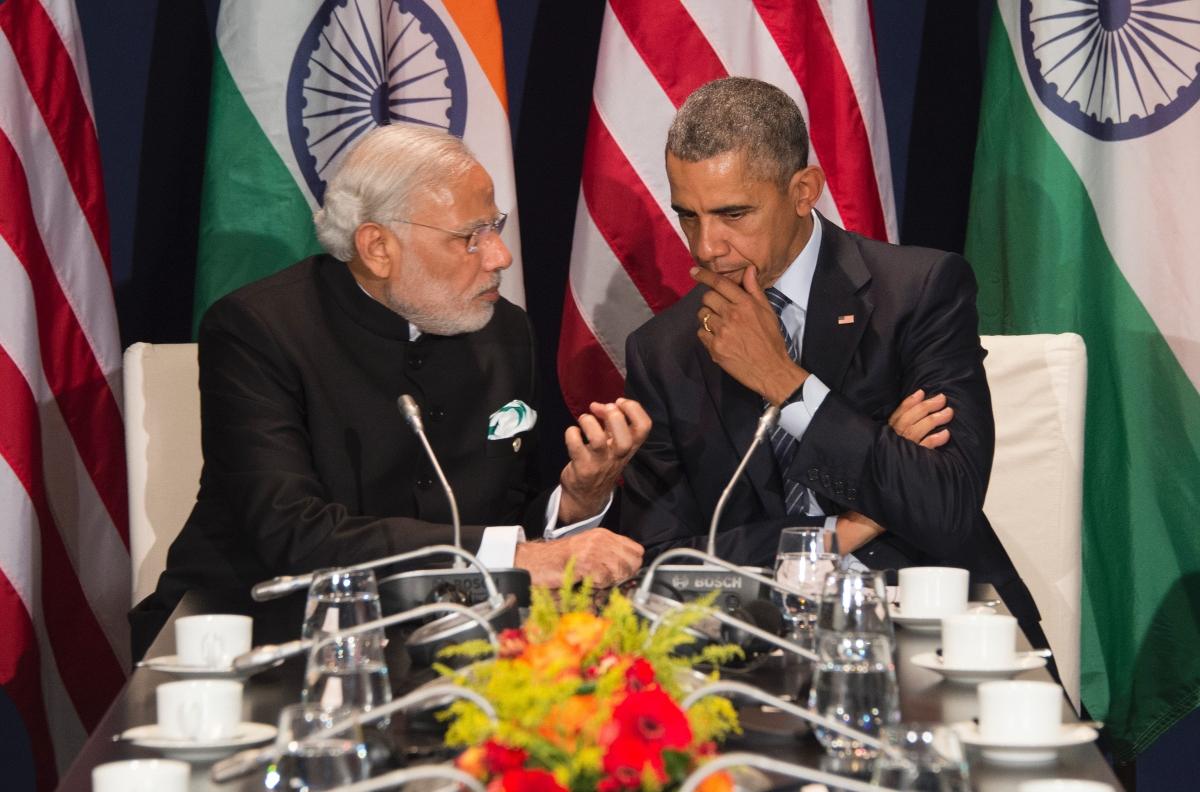 Narendra Modi and Barack Obama at COP21