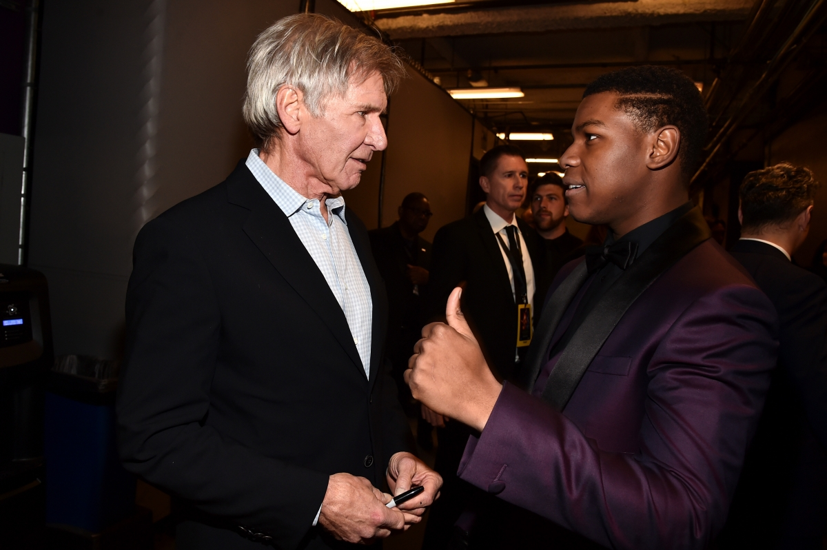John Boyega and Harrison Ford