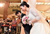 A wedding ceremony in Japan