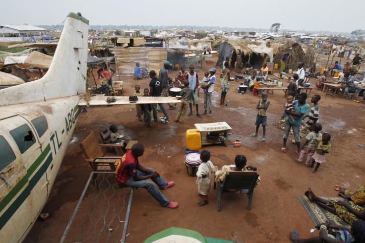 Refugees in M'poko camp in Bangui