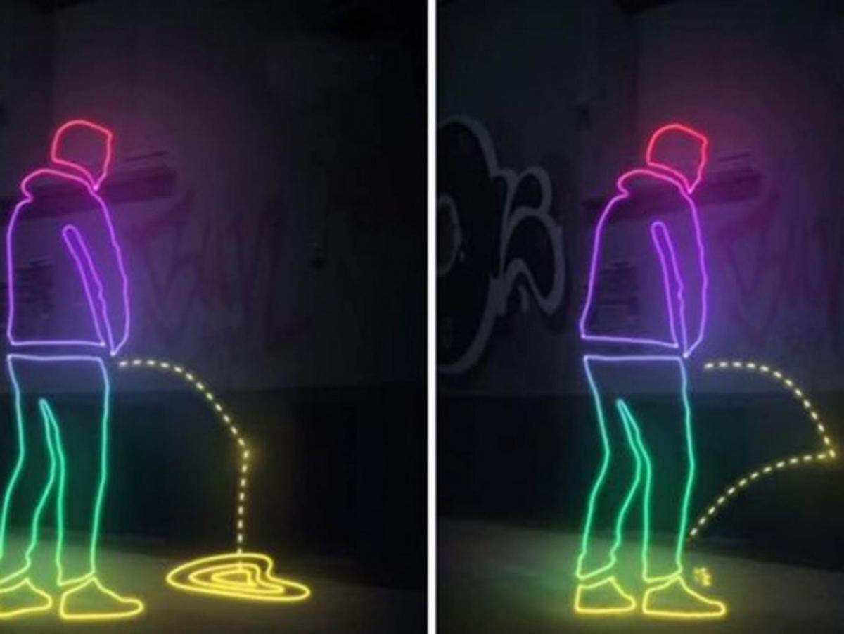 Anti-pee wall