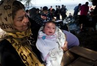 Baby born in conflict