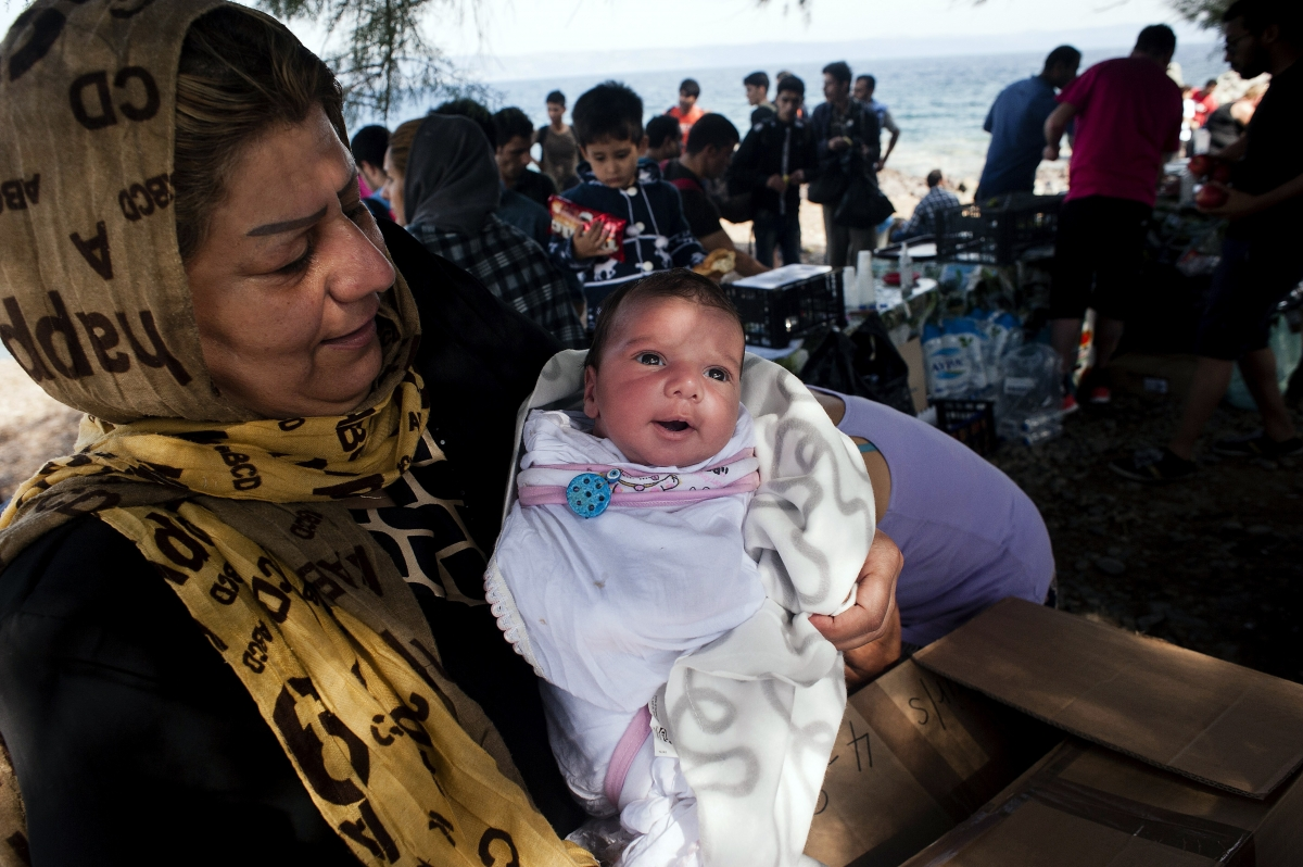 Baby born in conflict zone