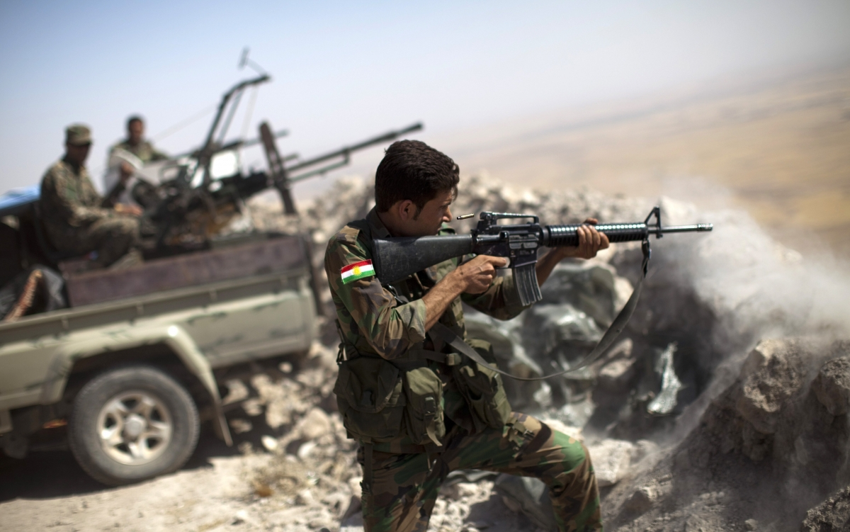 Peshmerga forces engage Isis near Mosul