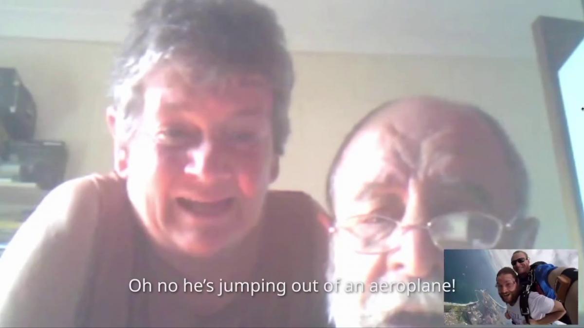 skydiving on skype