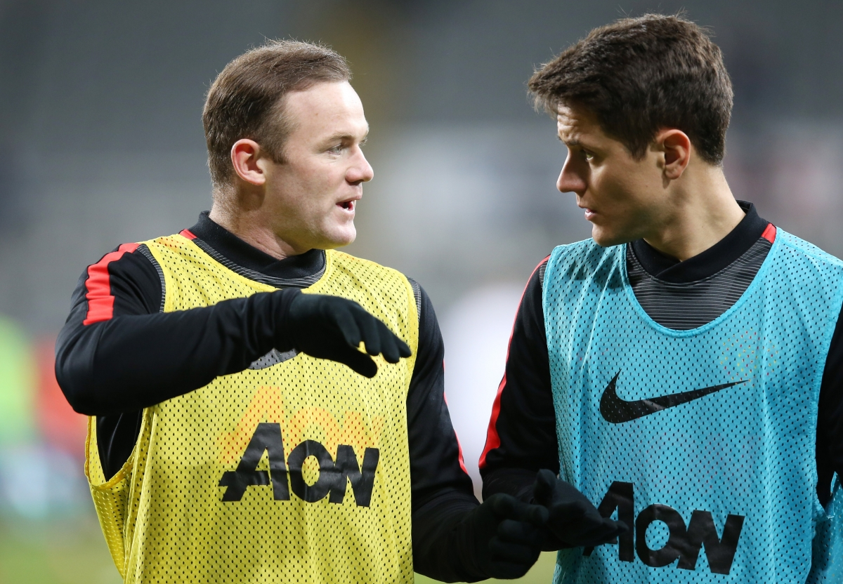 Wayne Rooney and Ander Herrera