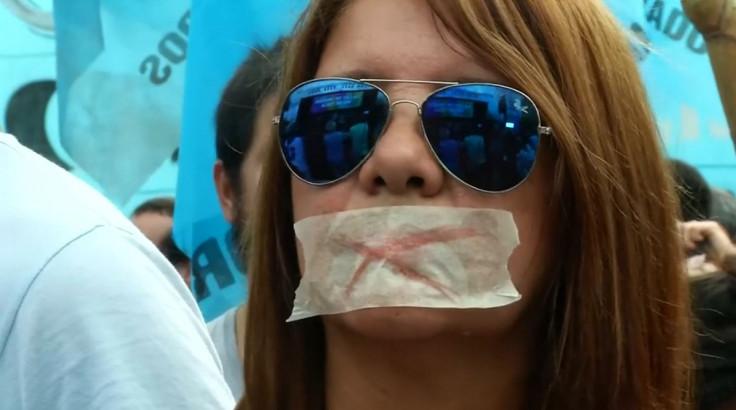 Argentina pro-media law protester