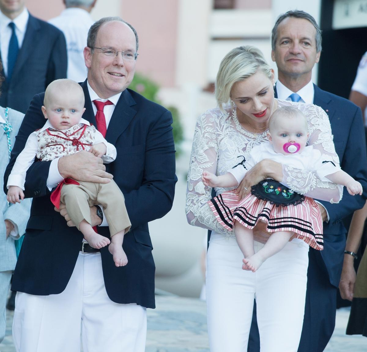 Princess Charlene with her twins