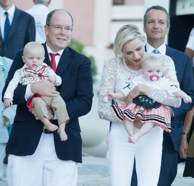 Princess Charlene with her twins