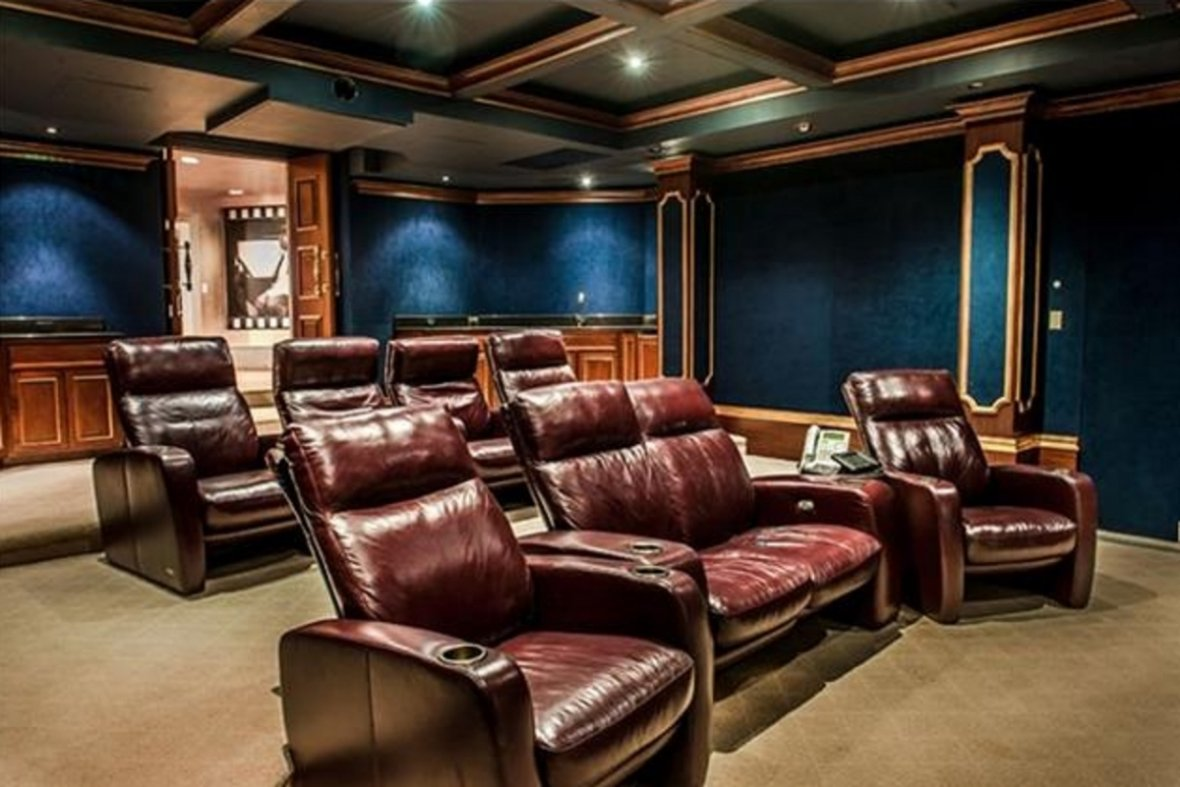 The home cinema in 50 Cent's mansion
